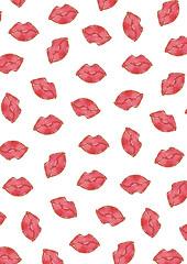 pattern lips A4 lr