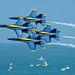 The Blue Angels perform at the Ocean City Air Show. by Official U.S. Navy Imagery