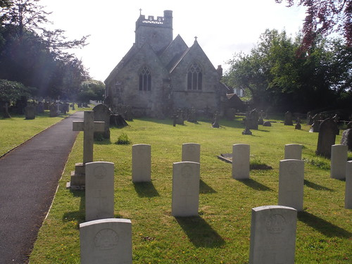 WWI graves at Fovant Church