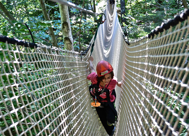 advanced obstacle course 1 - Arbor Trek Smugglers Notch, Vermont
