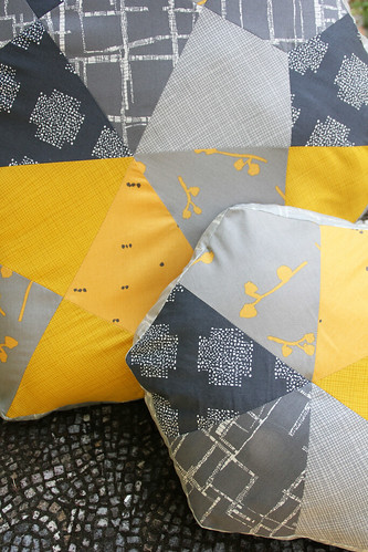 Imprint hexi kite pillows