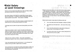 Child Safety at Level Crossings