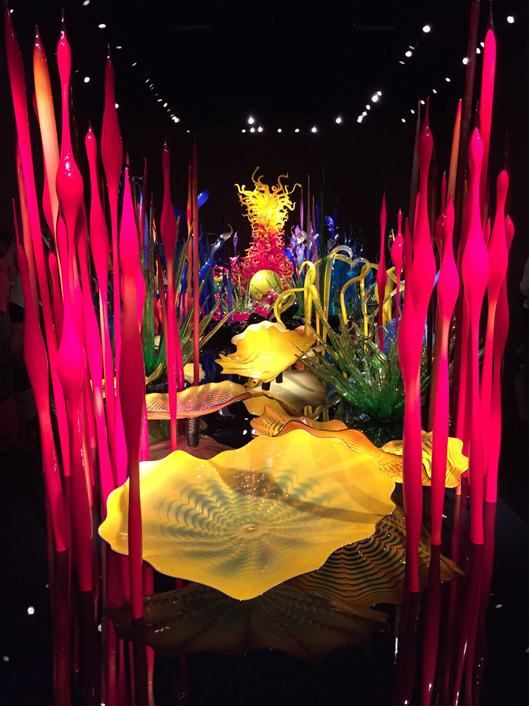 Mille Fiori installation at Chihuly Museum