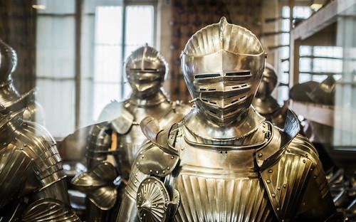 Armaduras en el Musée de l'Armée, Paris.