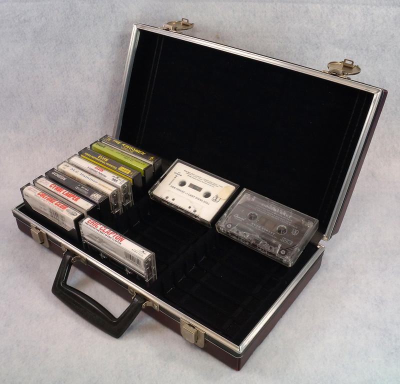 RD12878 Vintage Savoy 24 Cassette Tape Case Haverhill, MA with Bonus Tapes DSC08092