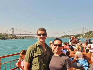 Dennis and Clare on Bosphorus Cruise