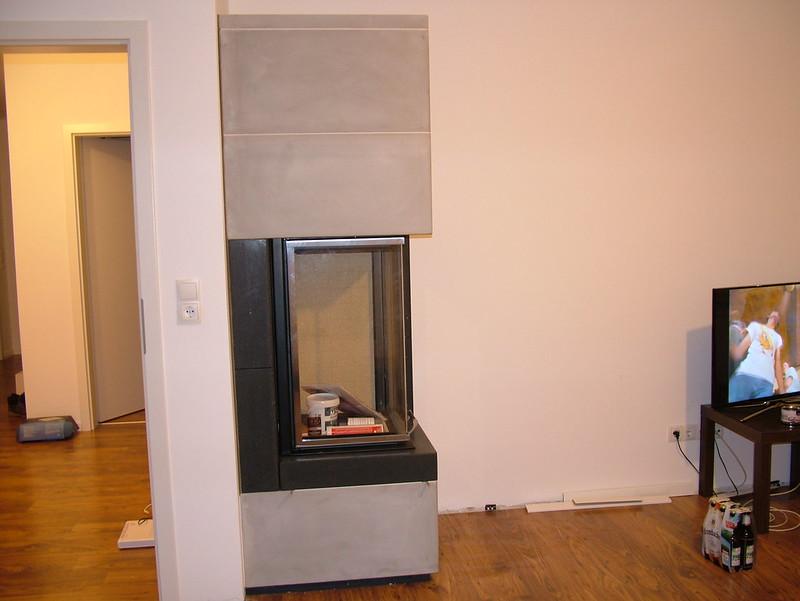 Speicherkamin mit extra hoher Tür, zwei seiten Einsicht in die Feuerung