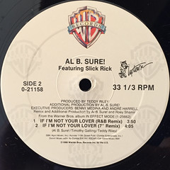 AL B. SURE!:IF I'M NOT LOVER(LABEL SIDE-B)