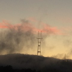 Went out to see the aligned planets and was mesmerized by the fog rolling over twin peaks #bernalwood