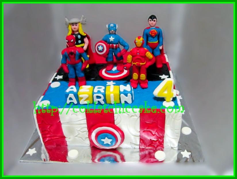 Cake Super hero / cake the avengers