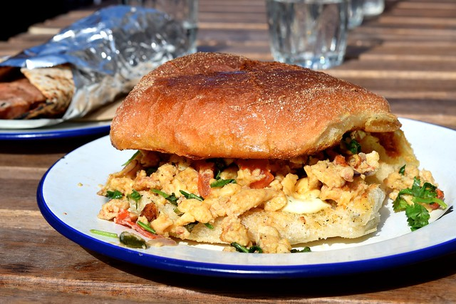 Indian Scrambled Egg Roll at Babu Bombay Street Kitchen, Glasgow