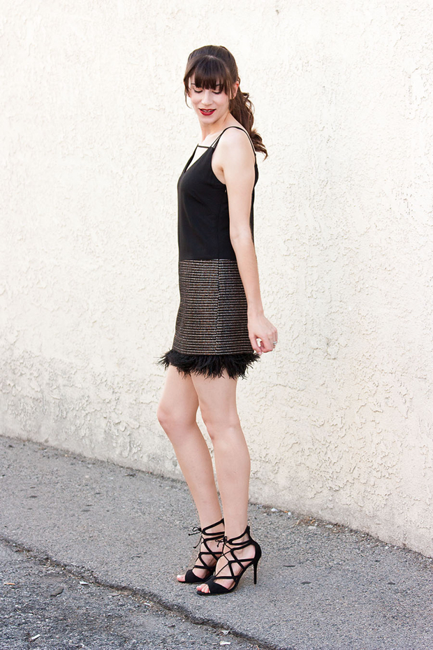 Greylin Feather Dress, Lace Up Heels_edited-1