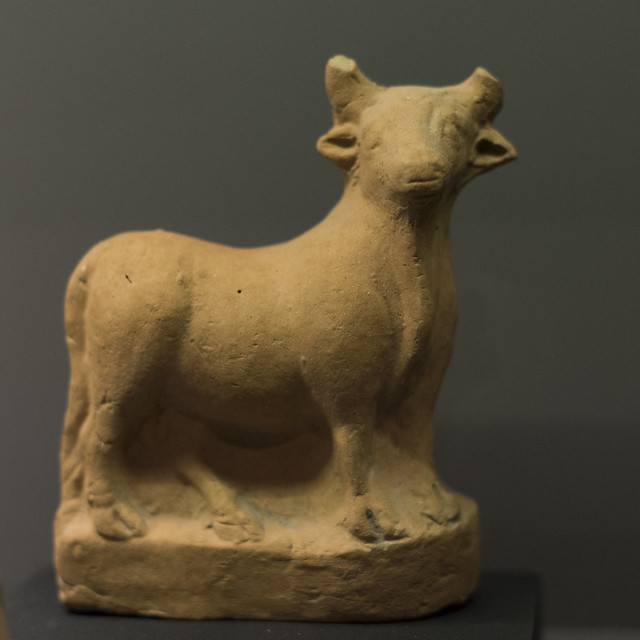 Terracotta figurine of a bull from Samothrace