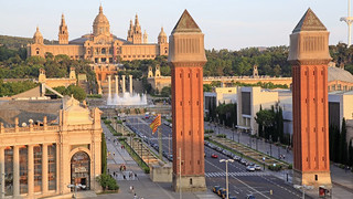 Barcelona, Placa Espana, Venetian Towers, spain