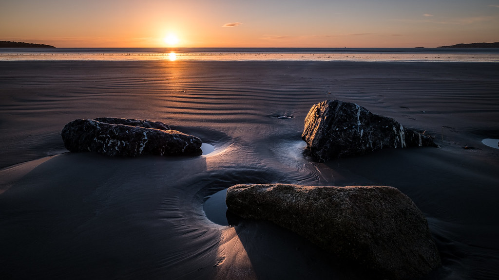 Sunrise in Bull Island, Dublin, Ireland picture