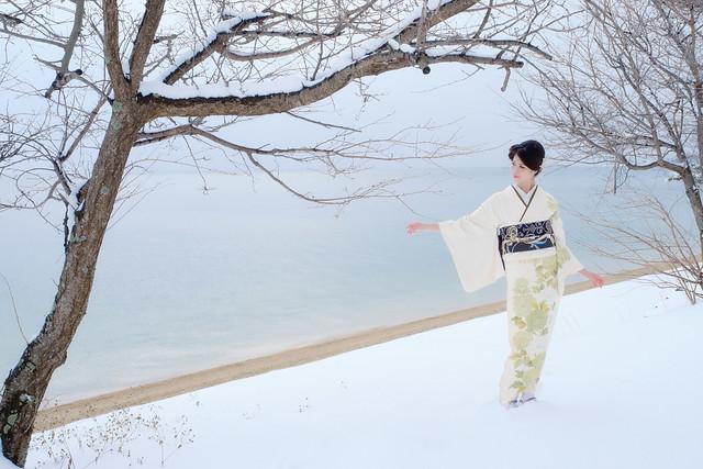 Lake Biwa snow affection ( Cocoro Kusano )