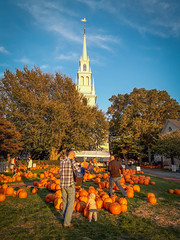 Trinity Church and Pumpkins
