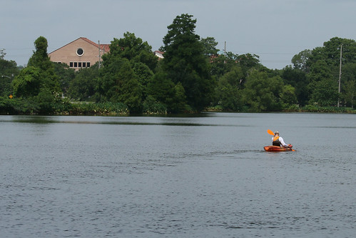 University Lake kayaking