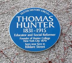 Photo of Thomas Hunter blue plaque