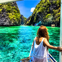 Deena ElKhattam at the Big Lagoon in El Nido, Palawan, Philippines!