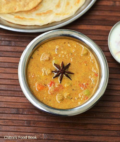 Saravana bhavan vegetable kurma