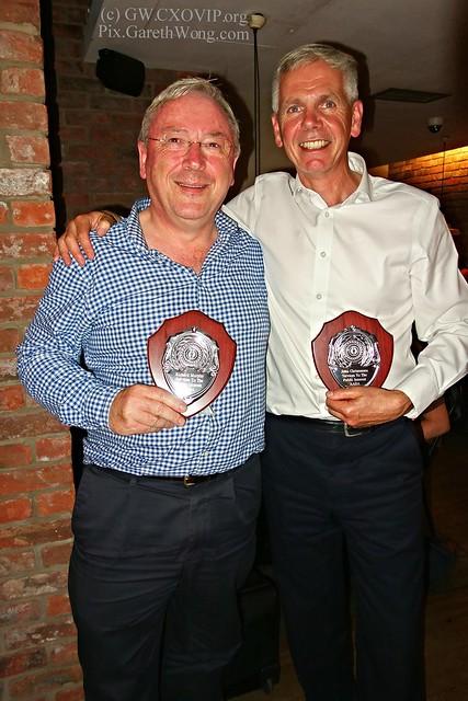 Richard Murphy & John Christensen Tax Justice Network founder with awards from RAW _DSC5422