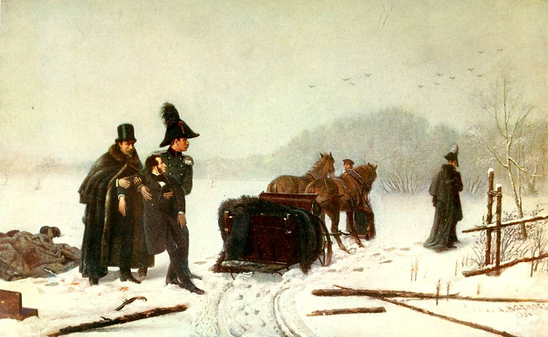 Alexander Pushkin's Duel with Georges d'Anthes, by A. A. Naumov