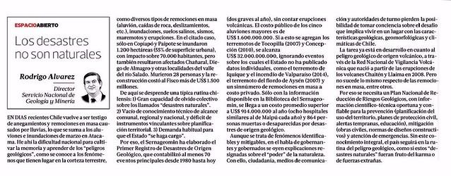 Diario La Tercera (página 6) 14 de julio de 2015