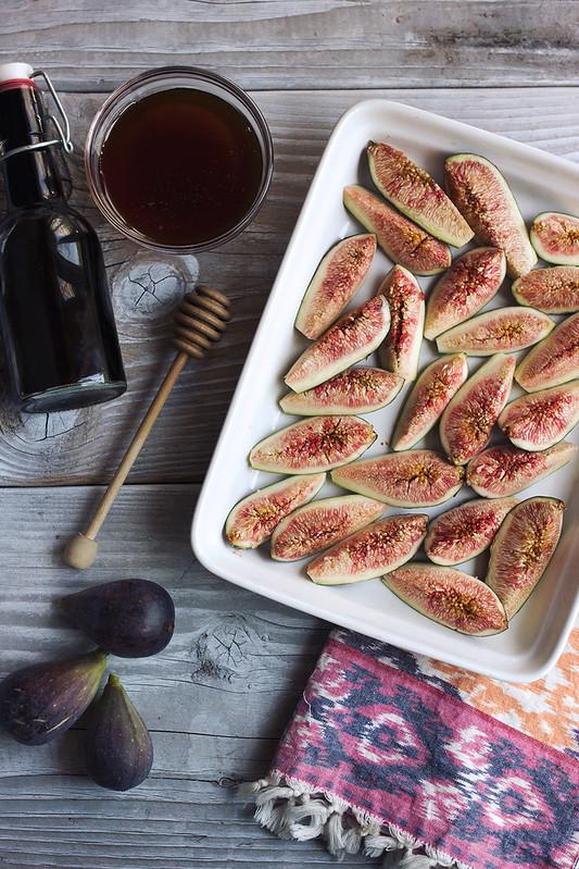 Honey Balsamic Roasted Fig and Toasted Pistachio Coconut Yogurt Parfaits