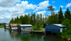 Boathouses on the Crooked River - Alanson - Michigan