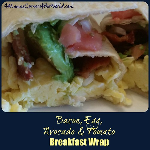 Bacon Egg Avocado and Tomato Breakfast Wrap 3