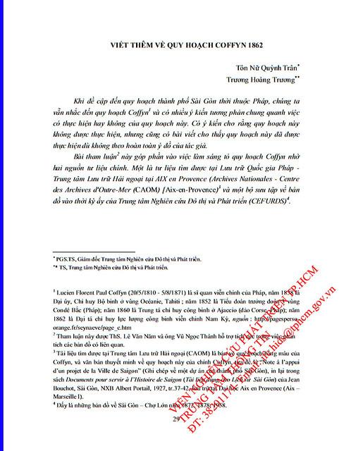 Viết thêm về Quy hoạch Coffyn 1862 (1/15)