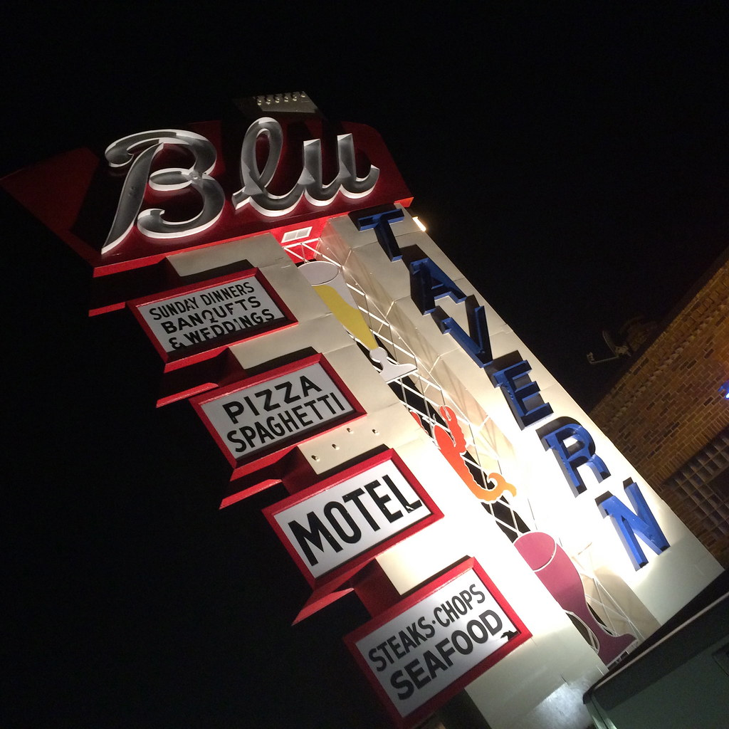 Blu Tavern Pottsville PA Vintage Retro Roadmap