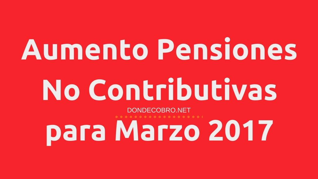 Aumento Pensiones No Contributivas