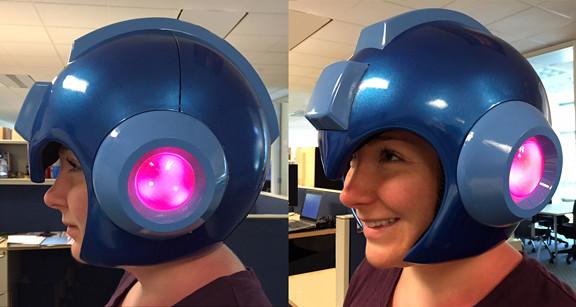 E罐給我拿來~ 洛克人氣氛滿點的1:1 複製頭盔