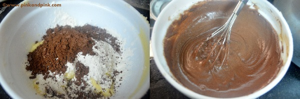 Eggless Chocolate Cupcake Recipe step2