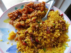 meal, rice, spanish rice, nasi goreng, arroz con pollo, hyderabadi biriyani, biryani, food, rice and curry, pilaf, dish, kabsa, cuisine,