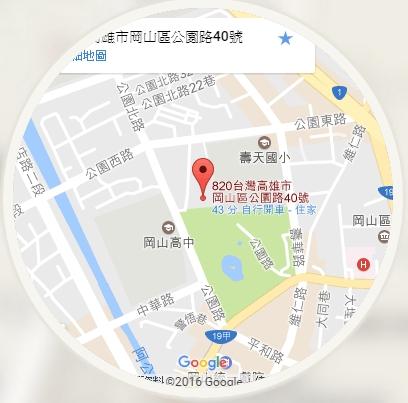 2017岡山燈會地圖