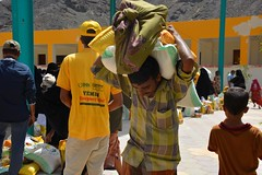 Food Aid delivered to the hungry in Aden