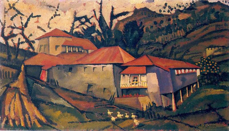 11a.- Casa do Ribeiro, 1913. óleo sobre madeira, Coleção particular