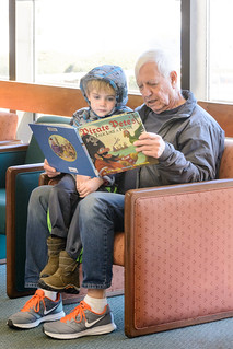 Sharing a Good Book with Grandpa