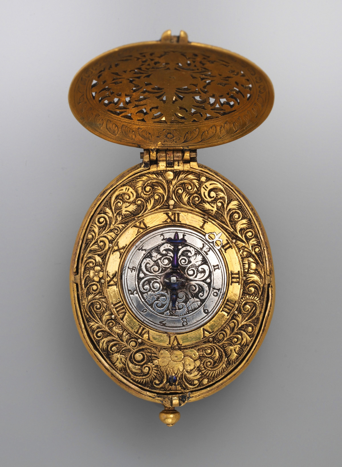1640. Watch. British, London. Silver gilt. metmuseum