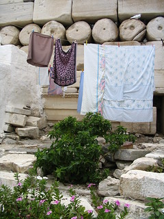 Ancient Roman wall, Paros, Greece