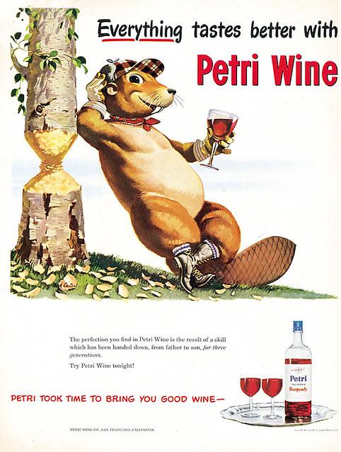 Petri Wine Beaver Ad 1...