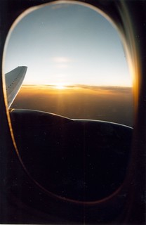 Framed Sunset, Washington to London (Boeing 777)