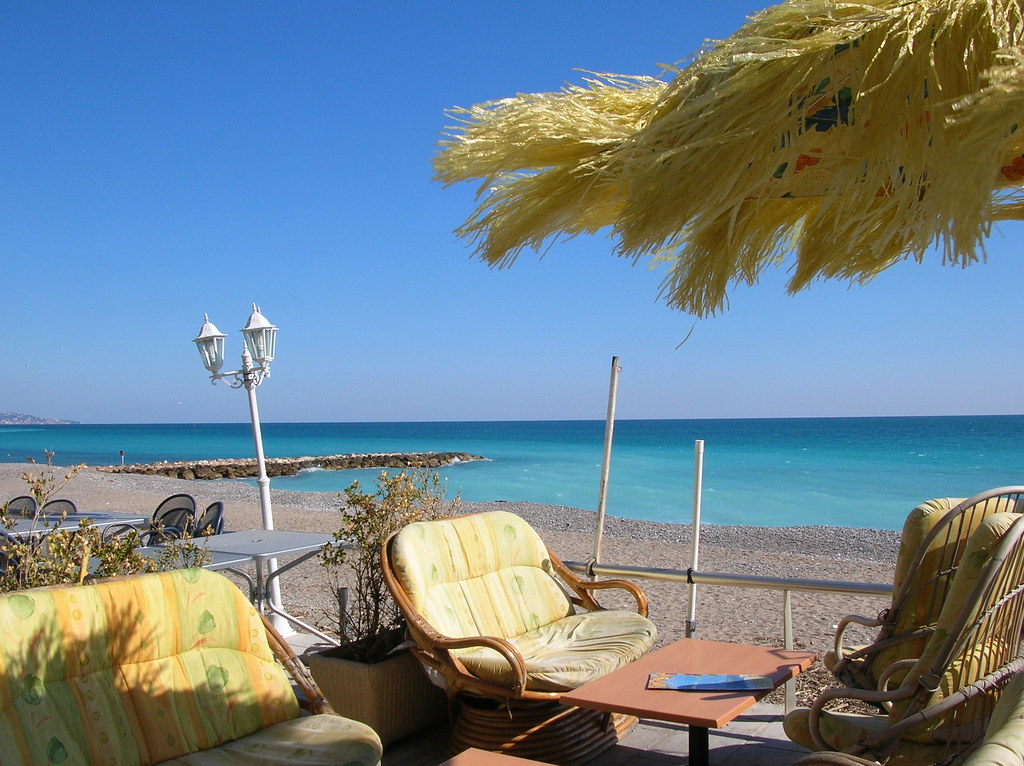 Пляж ментон menton франция
