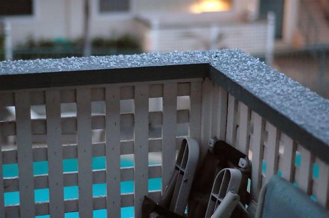 Hail on the balcony (3)