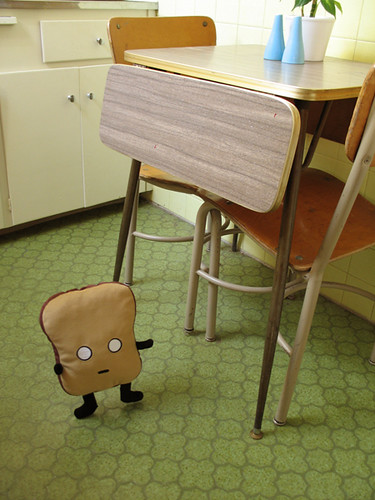 mr. toast in the kitchen