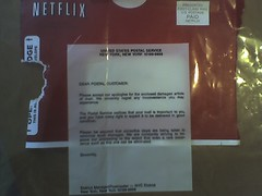 "An ""apology"" from the USPS for stealing my Netflix rental"