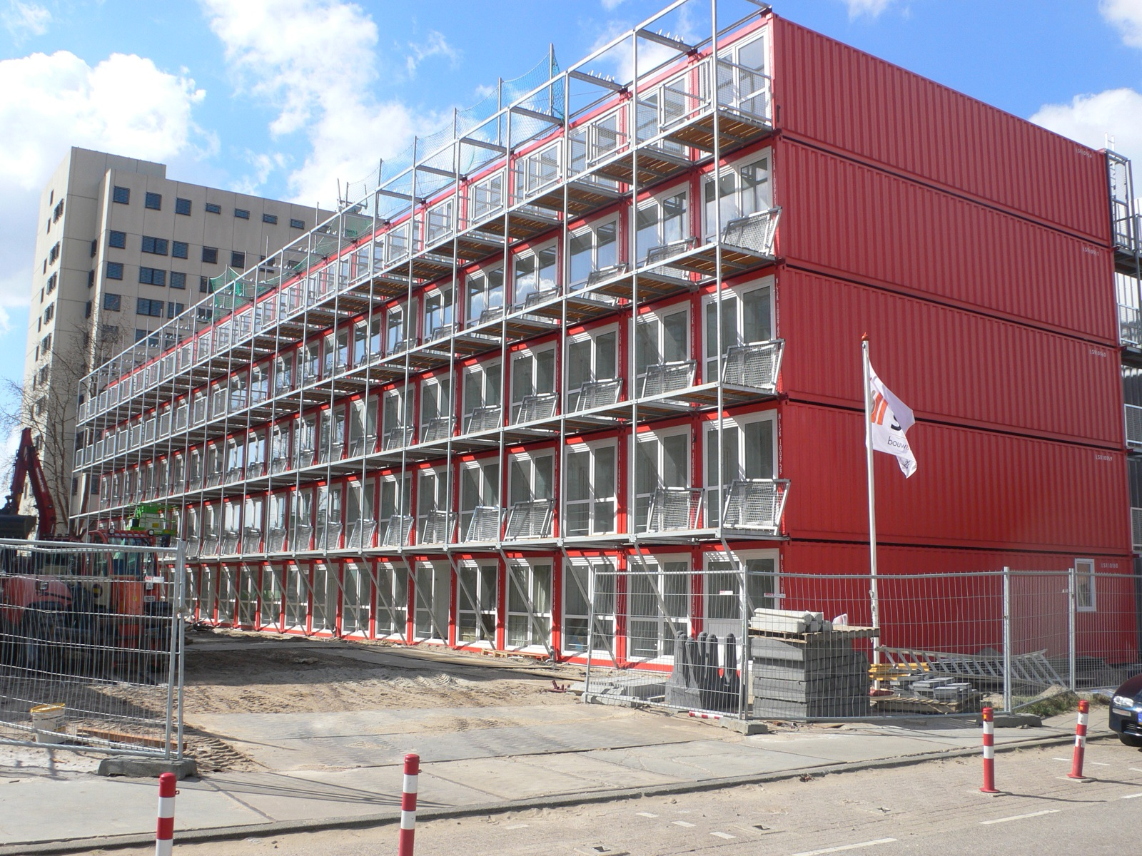 shipping container apartments - amsterdam